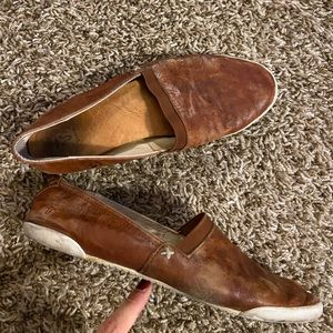 Frye leather slip on sneakers shoes 8M